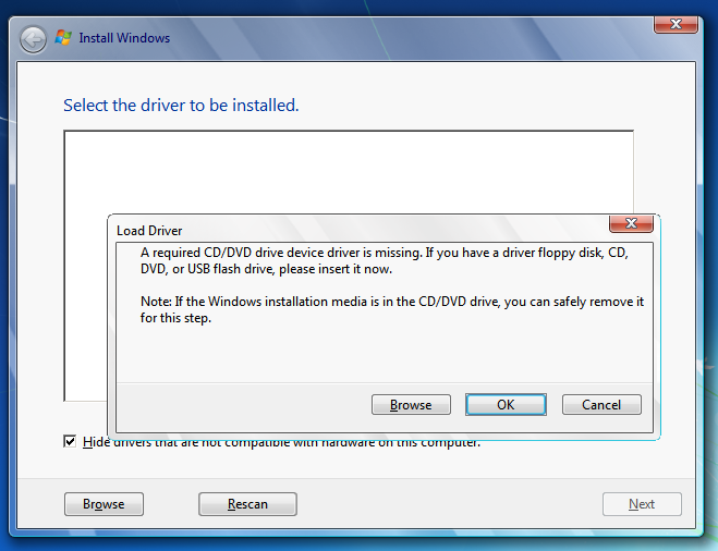 Installing windows flash usb driver