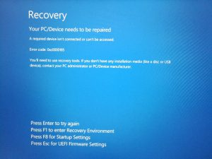 Your PC/Device needs to be repaired